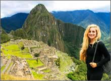 Volunteer visiting Machu Picchu